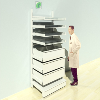 FY-016T Full Height Pharmacy Shelving