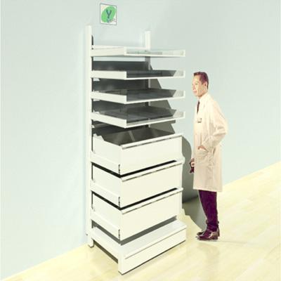 FY-016T Full Height Pharmacy Shelving