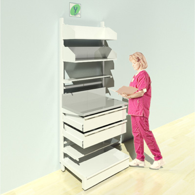 FY-018T Full Height Pharmacy Shelving
