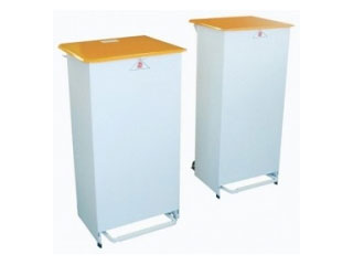 Fire Retardant Bodied Sack Holder - 60 Litre with White Body & Orange Lid