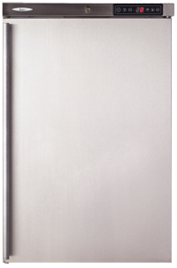 Light Catering Fridge 153 Litre Stainless Steel with Solid Door