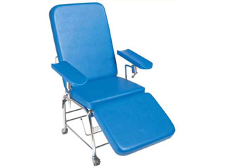 Reclining Phlebotomy Chair Non Height Adjustable with Wheels